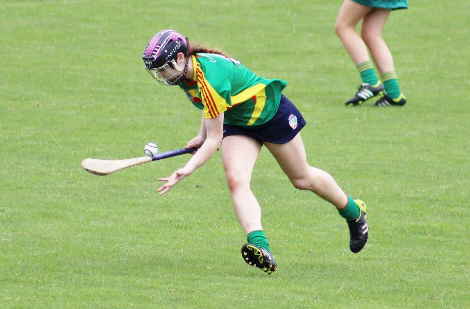 Kate Nolan in Carlow Camogie action. Photo courtesy Carlow Camogie.
