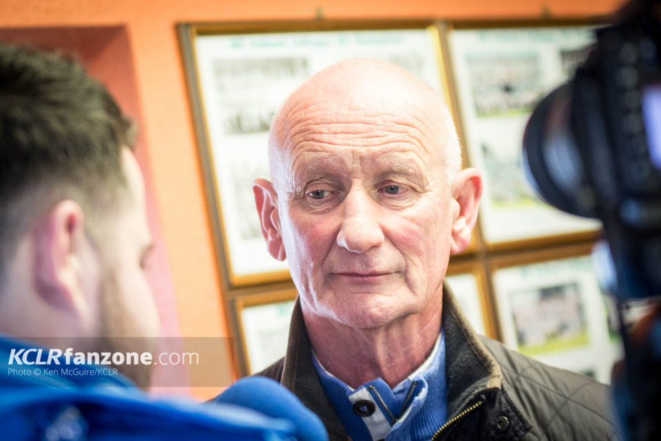 Kilkenny senior hurling manager Brian Cody speaking to KCLR at the launch of the 2016 hurling campaign at Nowlan Park. Photo: Ken McGuire/KCLR