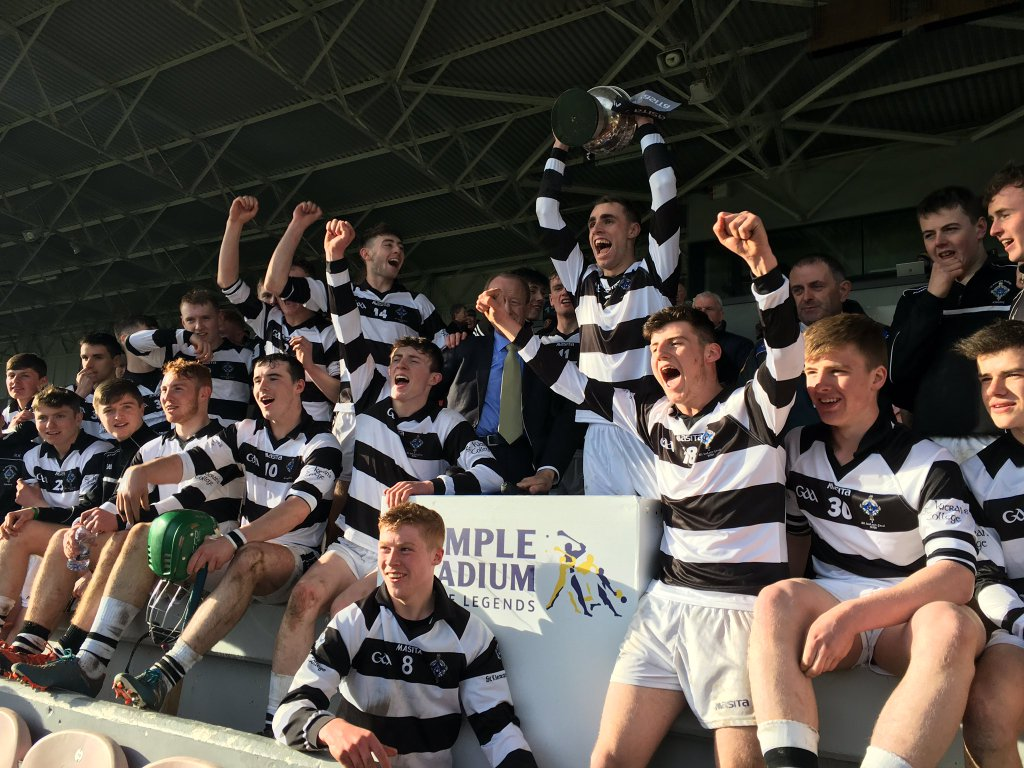 St. Kieran's College lift the Dr. Croke Cup for the 21st time at Sempe Stadium, Thurles, on Easter Monday 2016. Photo: @kieranscollege/Twitter