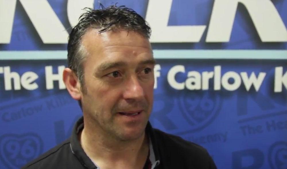 Thomastown United managed Stephen Walsh. Screengrab: kclr96fm.com