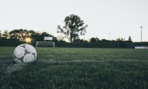 Local soccer. Stock photo.