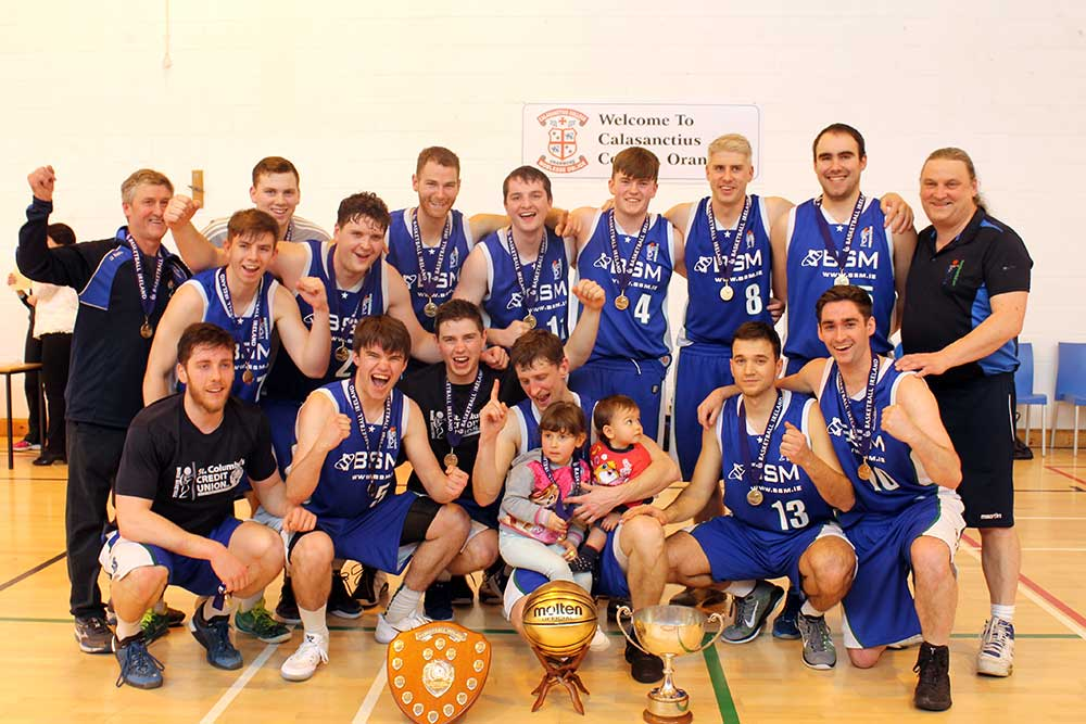 Maree: Basketball Ireland Men's Division One Regular Season Champions 2016/17 and Men's Division One Northern Conference winners