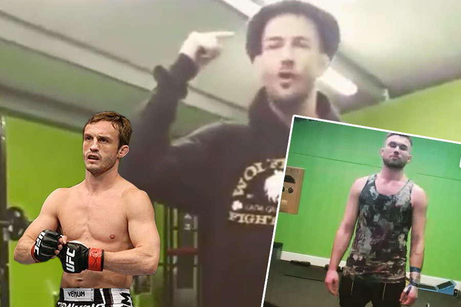 'The Carlow Kid' Andy Murphy and inset Brad Pickett (left) and Myles Price (right)