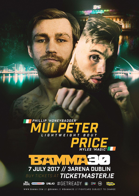 Myles Price v Philip Mulpeter poster
