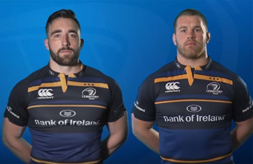 Leinster's Jack Conan and Sean O'Brien (right). Screenshot: YouTube