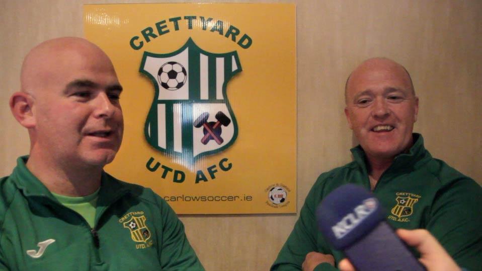 Crettyard United's Patrick Brennan and Billy Nolan