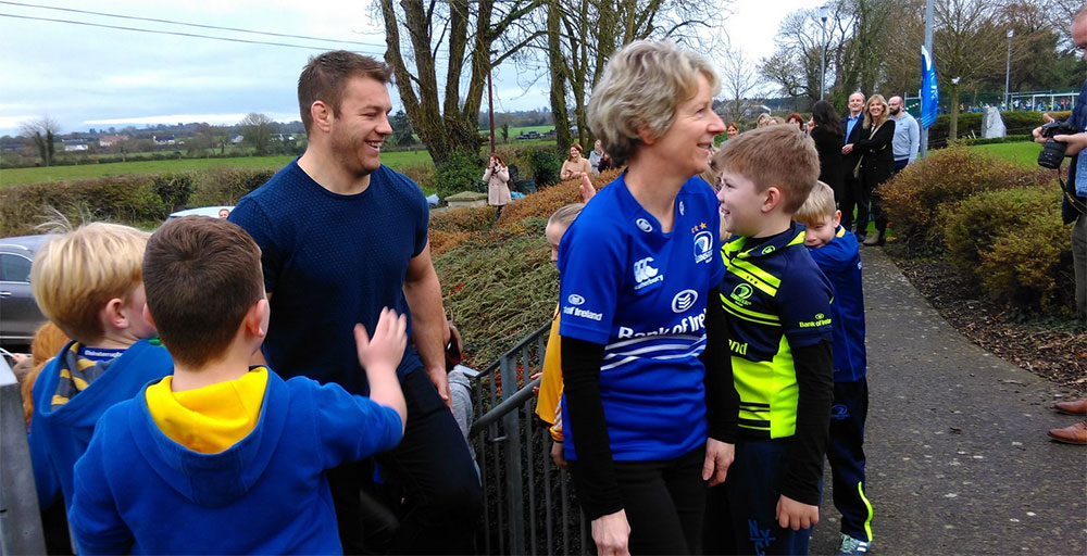 Sean O'Brien arrives at Church Hill National School. Photo: Edwina Grace/KCLR