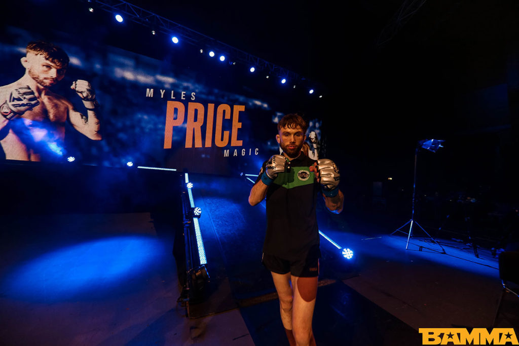 Myles Price at BAMMA 35. Photo © BAMMA