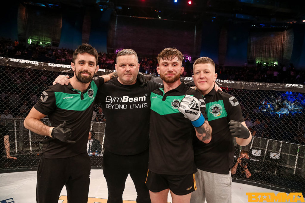 Team Ryan's Mick Brennan, Andy Ryan, Myles Price and Paul Redmond at BAMMA 35. Photo © BAMMA