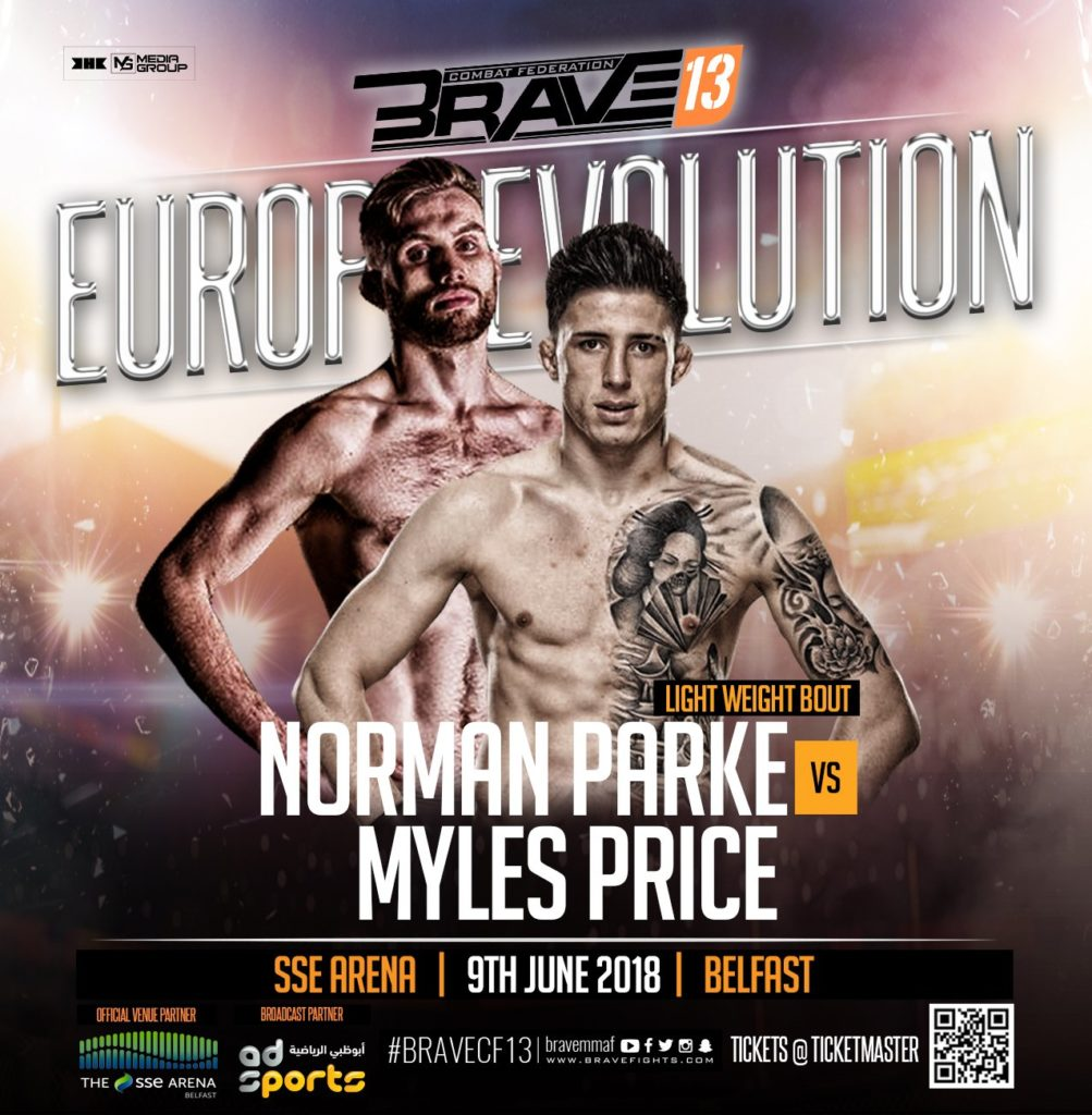 Norman Parke v Myles Price for Brave CF 13