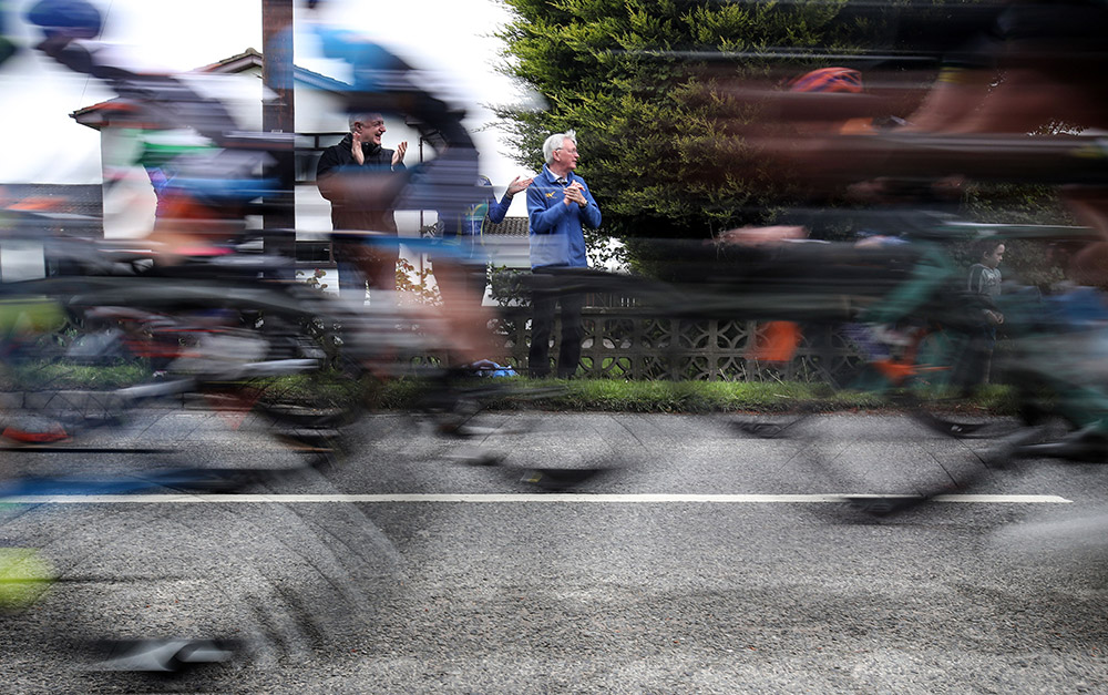 Spectators cheer on the riders at the start of the 2018 Ras Tailteann. Mandatory Credit ©INPHO/Bryan Keane