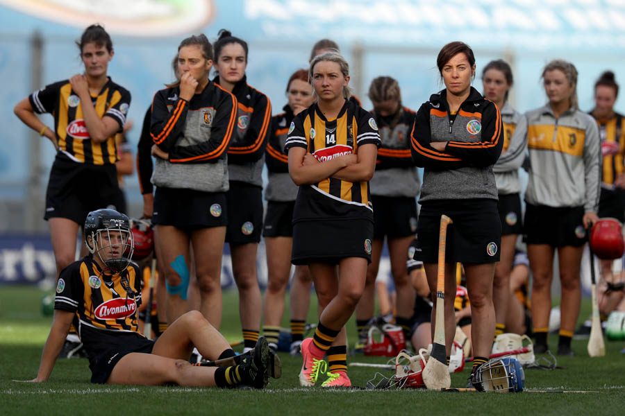 Kilkenny team dejected at the end of the game Mandatory Credit ©INPHO/Bryan Keane