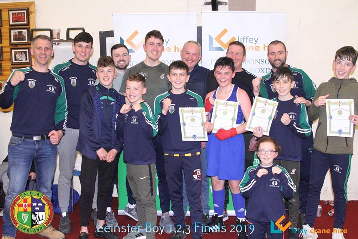 Junior boxers from the Marble City Boxing Club along with their coaches. Photo courtesy Noel Kehoe