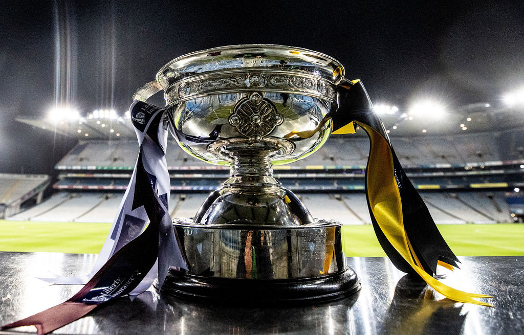 A general view of the O'Duffy Cup ahead of the game 12/12/2020