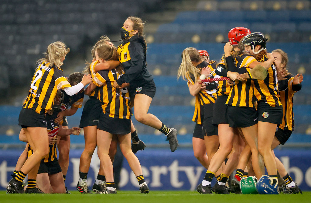 Kilkenny celebrate at the final whistle 12/12/2020