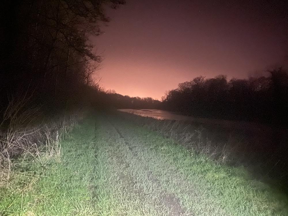 Barrow track by night on St Valentine's Day (Eimear Ní Bhraonáin)