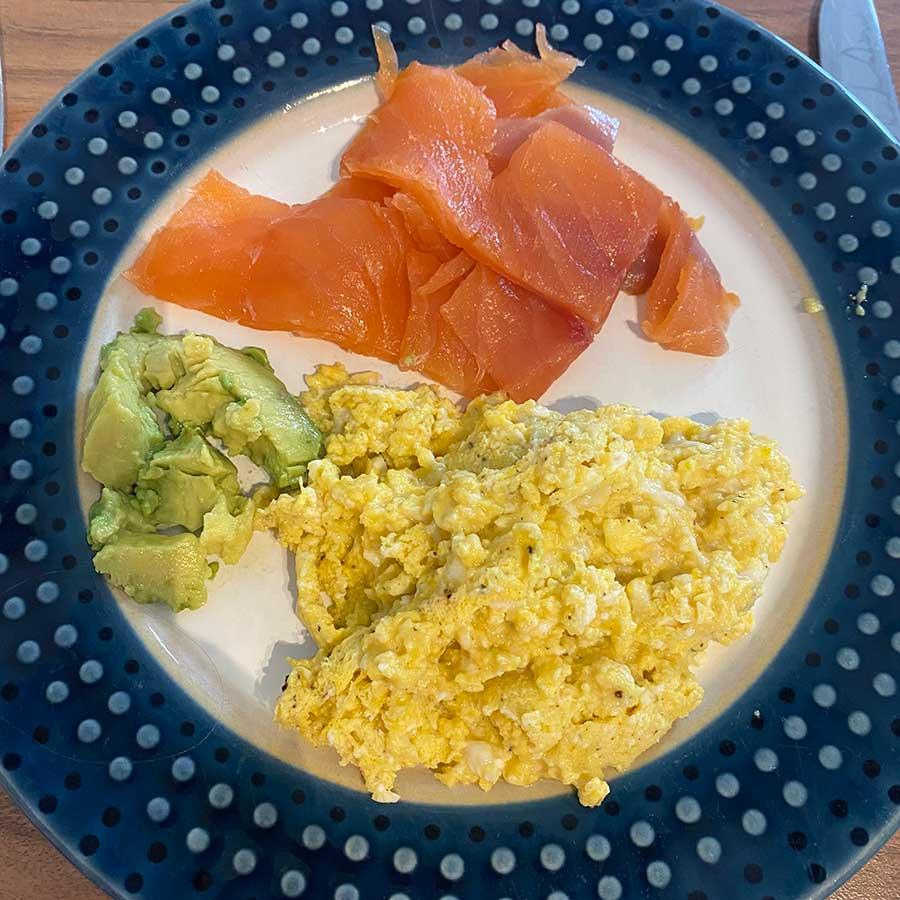 Smoked salmon, avocado & scrambled egg